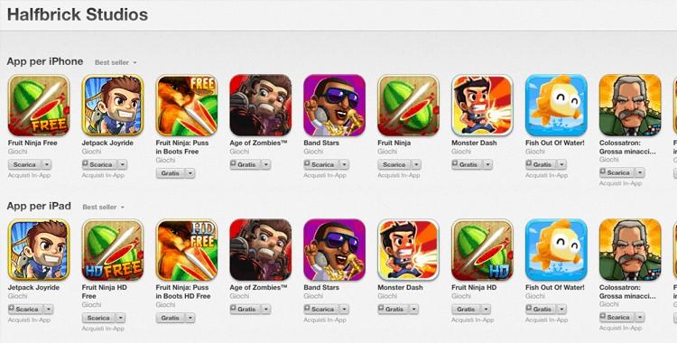 Halfbrick rende gratuiti i propri giochi su App Store