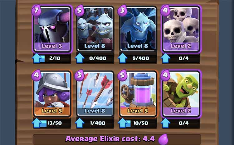 Deck migliore clash royale arena 7 guida trucchi e for Clash royale deck arc x