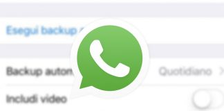 Disattivare backup WhatsApp su iPhone