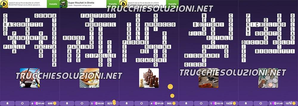 Soluzioni Crossword Cruciverba illustrati capitolo 1