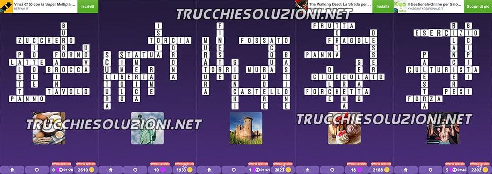 Soluzioni Crossword Cruciverba illustrati capitolo 2