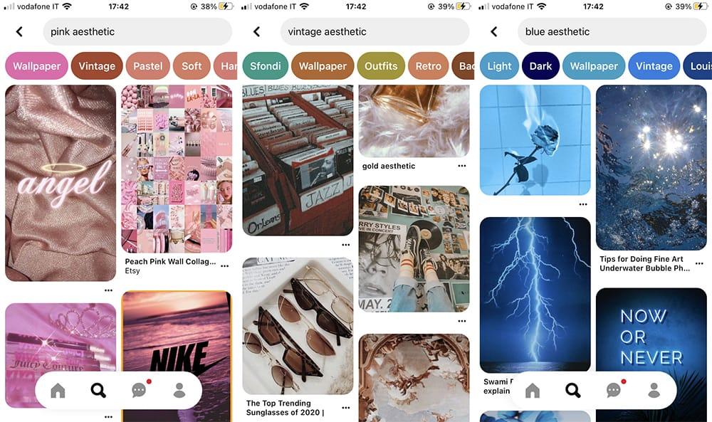 Pinterest Homescreen iOS 14